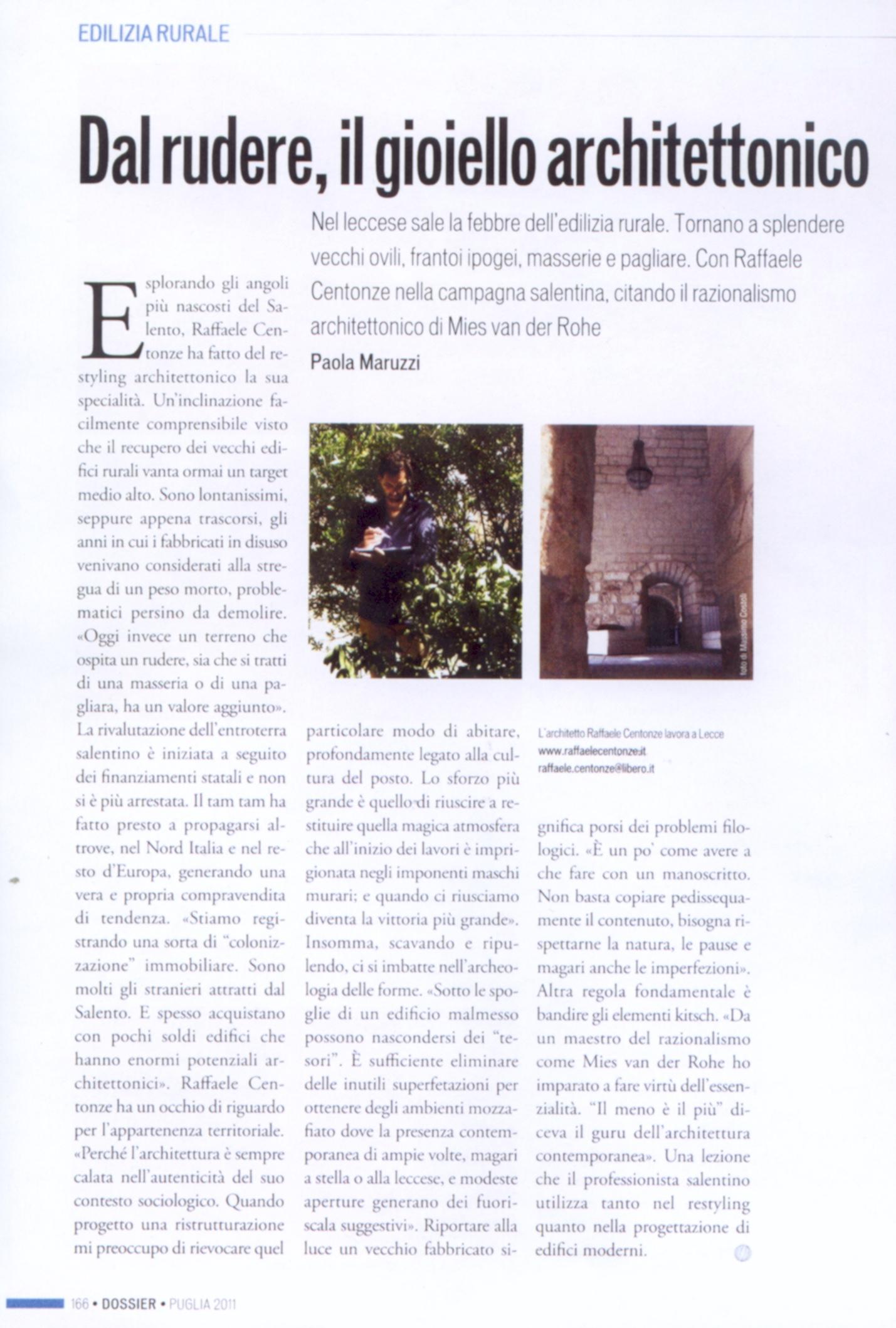 1 Intervista il giornale LUGLIO 2011